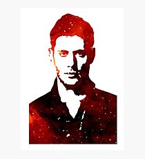 Space Dean Winchester Photographic Print