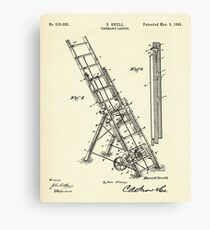 Fireman´s Ladder- 1895 Canvas Print