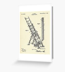 Fireman´s Ladder- 1895 Greeting Card