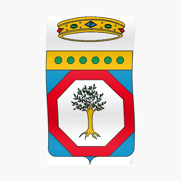 Puglia flag Stemma  Poster