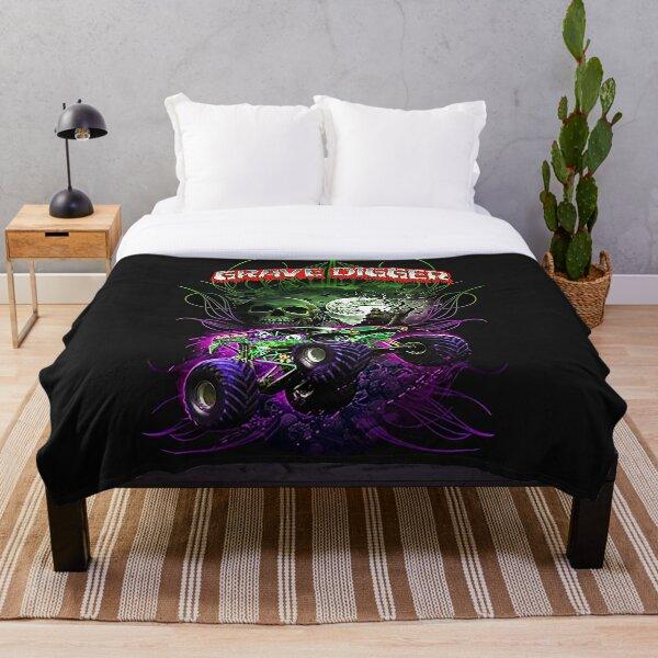 grave digger monster jam monster truck  Throw Blanket