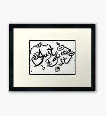 Rachel Doodle Art - Just Juice It Framed Print