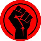 RED Black socialist fist by Thelittlelord