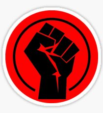 RED Black socialist fist Sticker