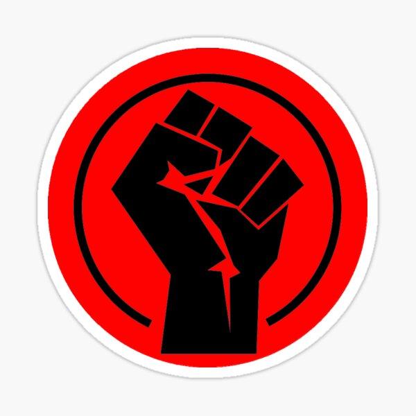 RED Black socialist fist Sticker