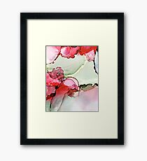 Red and green abstract landscape  Framed Print