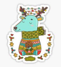 Winter deer Sticker