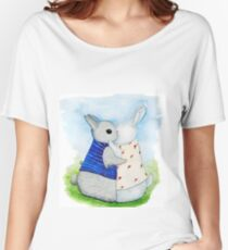 two Bunny hug Women's Relaxed Fit T-Shirt