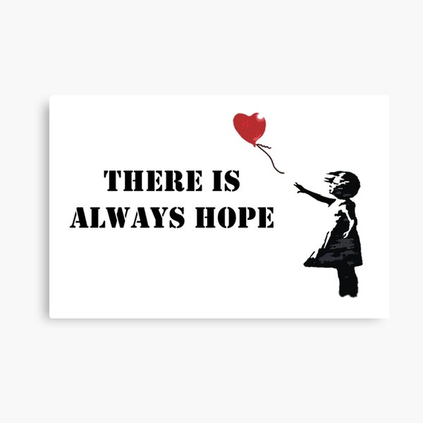 Banksy: There is always hope Canvas Print