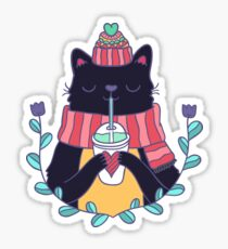 Winter cat Sticker