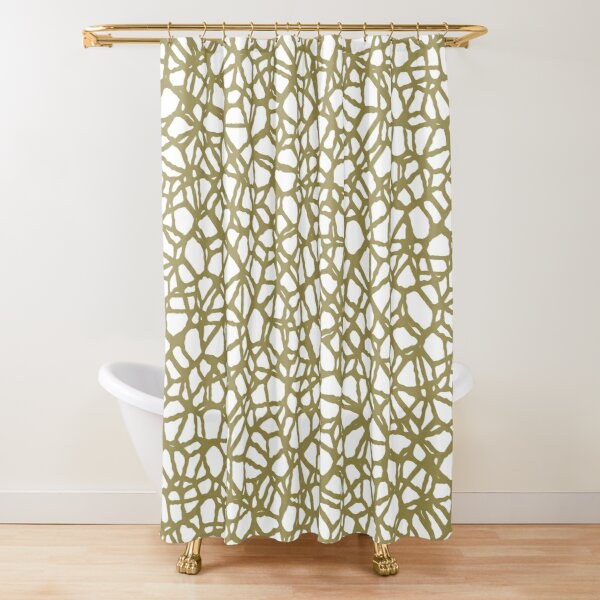 Staklo (Brown) Shower Curtain