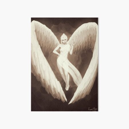 Pinnacle of the Tree, Winged Angel Magical Pinup Art Board Print