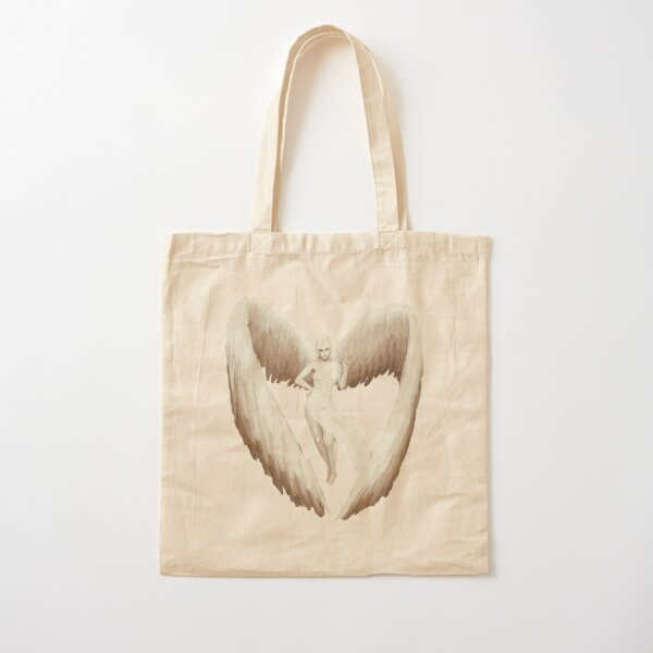 Pinnacle of the Tree, Winged Angel Magical Pinup Cotton Tote Bag