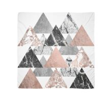 Quot Marble Rose Gold Silver And Floral Geo Triangles Quot Throw