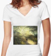 Overtaken! Women's Fitted V-Neck T-Shirt