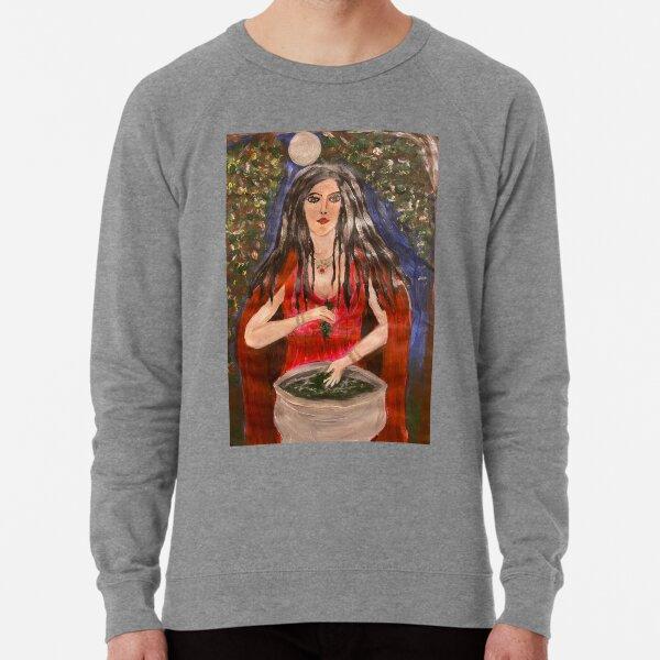 Ceridwen, Welsh Goddess of Transformation and Inspiration Lightweight Sweatshirt