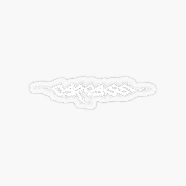 Carcass - White logo Transparent Sticker