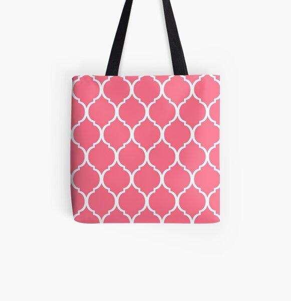 Concha de tortuga rosa Bolsa estampada de tela