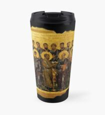 Twelve Disciples, Synaxis, Christianity, Twelve Apostles, Russian, 14th century, Moscow Museum. Travel Mug