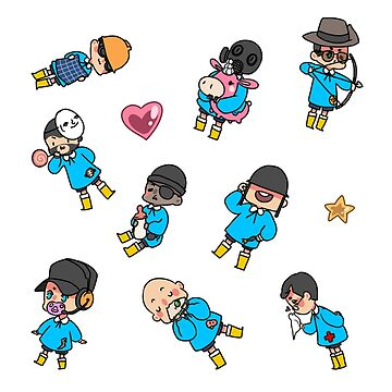 TF2 kiddies Stickers by Velvetcat09