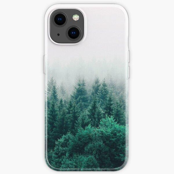 nebliges Walddesignermuster. iPhone- oder Samsung-Handyhülle & Abdeckung iPhone Flexible Hülle