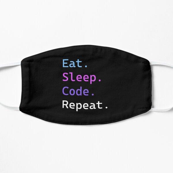 Eat Sleep Code Repeat Vaporwave Themed Flat Mask