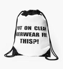 Clean Underwear Drawstring Bag