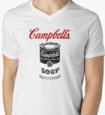 Campbell Suppe T-Shirt mit V-Ausschnitt