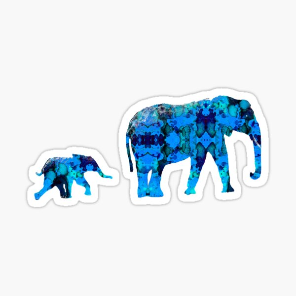 Inkblot Elephants Sticker