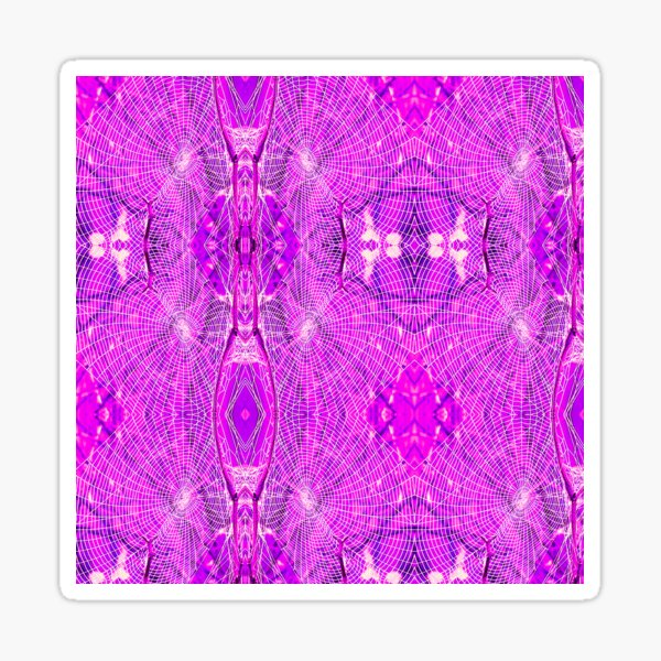 Web Disco - Hot Pink - Macro Sticker