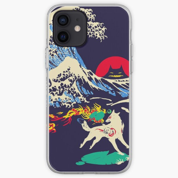 The Great Wave off Oni Island iPhone Soft Case