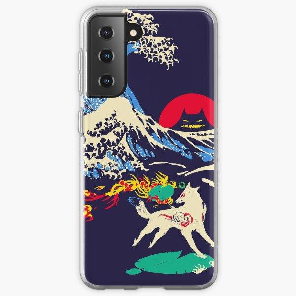 The Great Wave off Oni Island Samsung Galaxy Soft Case