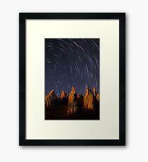 Star Trails At The Pinnacles  Framed Print