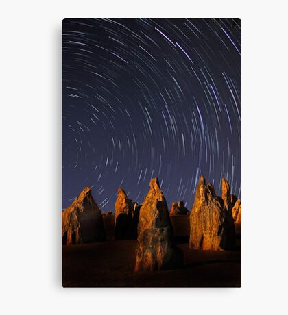 Star Trails At The Pinnacles  Canvas Print
