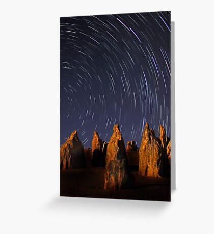 Star Trails At The Pinnacles  Greeting Card
