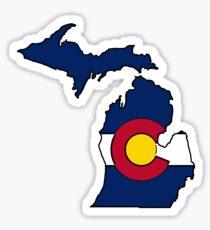 Pegatina Escudo de Michigan bandera de Colorado