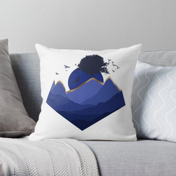 blaues Gebirge Dekokissen