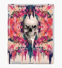 Seeing color, melting floral skull iPad Case/Skin