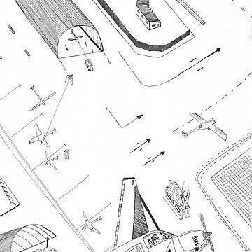 Airplane by Bitsan