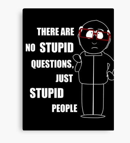 There are no stupid questions Canvas Print