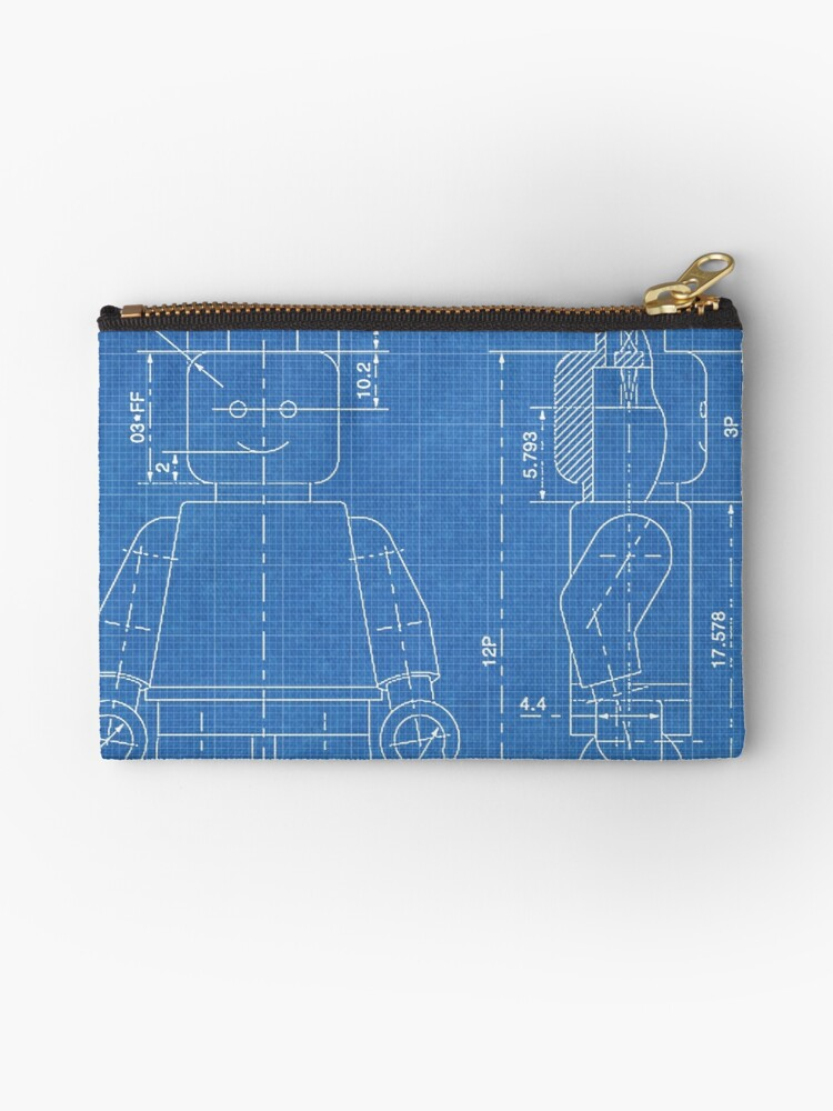 Lego minifigure us patent art mini figure blueprint studio pouches lego minifigure us patent art mini figure blueprint by steve chambers malvernweather Choice Image