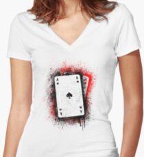 Bullets Women's Fitted V-Neck T-Shirt