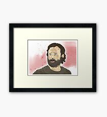 Rick Grimey Grimes The Walking Dead  Framed Print