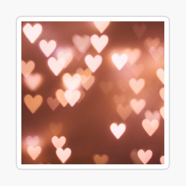 Special Glow Hearts  Sticker