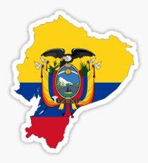 Flag Map of Ecuador  Sticker