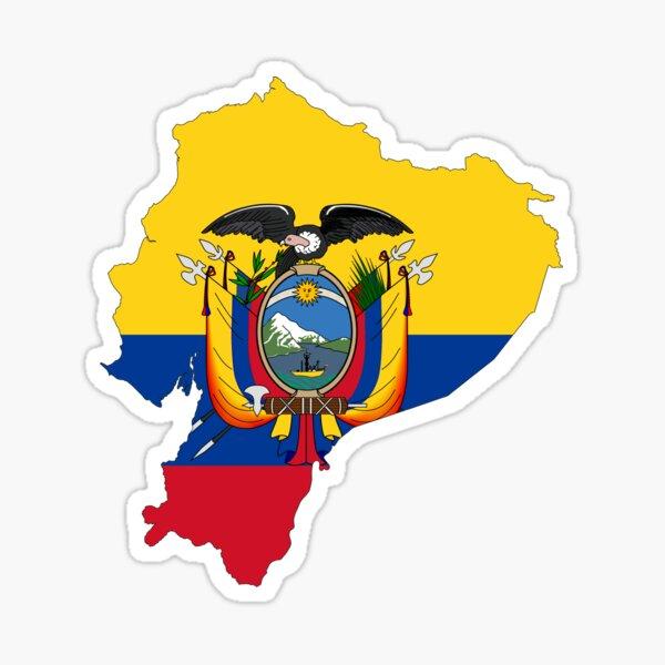Mapa de la bandera de Ecuador Pegatina