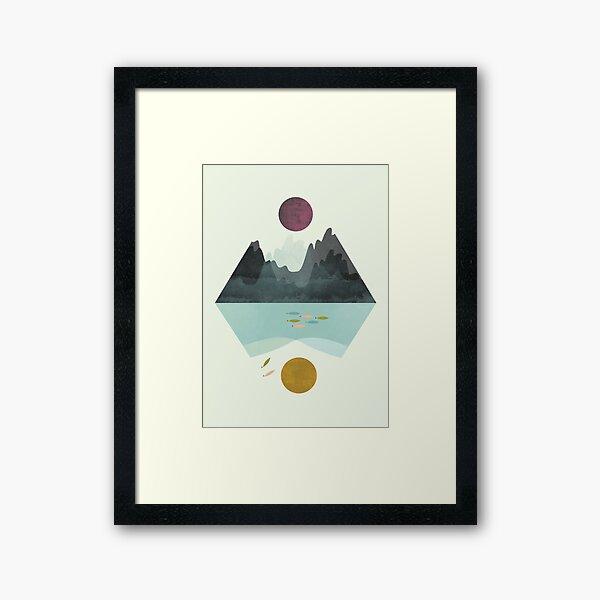 Calm&storm Framed Art Print