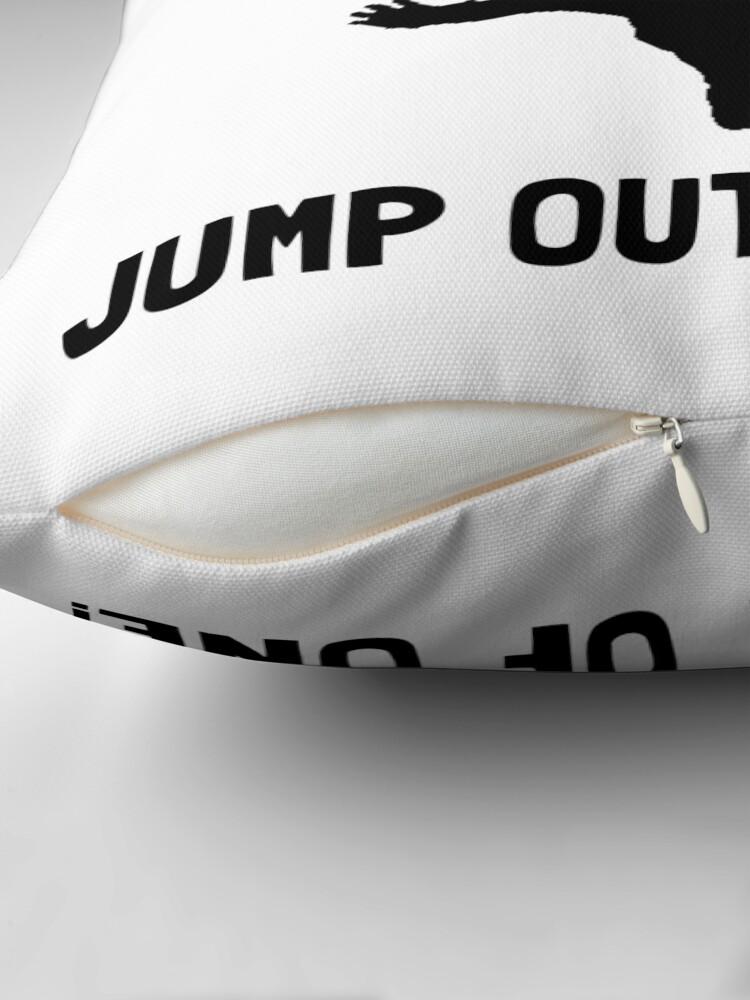 Alternative Ansicht von Idiot Fallschirmspringen Dekokissen