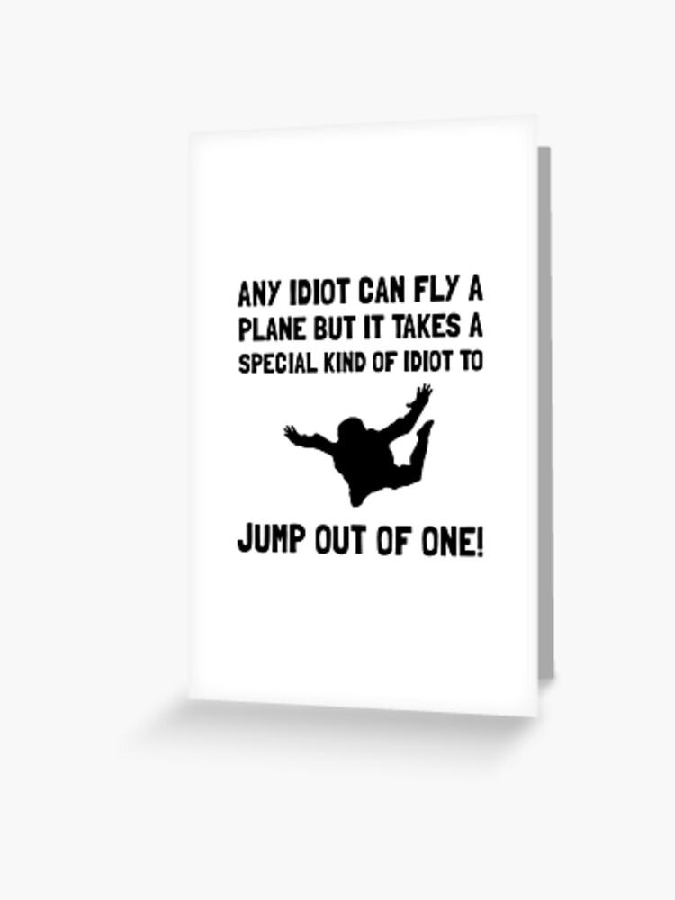 Skydiving Birthday Customised Card