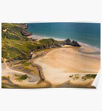 Three Cliffs Bay, Gower Poster